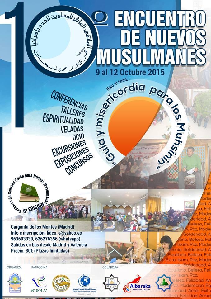 Cartel del 10º Encuentro de Nuevos Musulmanes