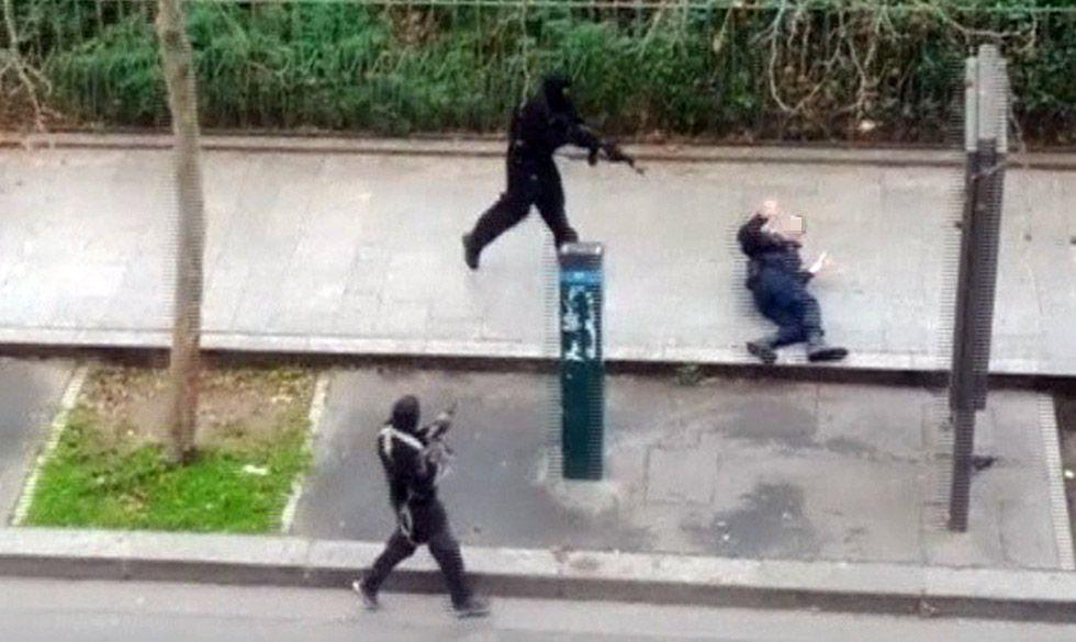Imagen del atentado en Francia